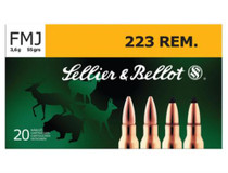 Sellier and Bellot 223 Remington 55 FMJ 20Rd/Box