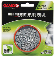 Gamo Match Lead Free Pellets .177 Caliber Flat Nose 150 Per Blister Pack