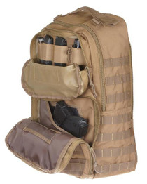 """Drago Atlus Sling Pack Backpack Tactical 600D Polyester 19""""x11""""x10"""" Tan"""