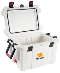 Pelican ProGear Progear Cooler 45Qt Elite Sloped Drain Fish Scale Wht