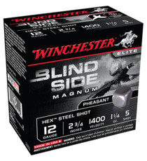 Winchester Blind Side Steel Hex Pheasant 12 gauge 2.75 Inch 1400 FPS 1.325 Ounce 5 Shot 25rd/Box