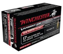Winchester Varmint HE .17 Winchester Super Magnum Rimfire 25gr, V-Max 50rd Box