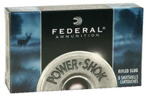 "Federal Power-Shok Rifled Slug 16 GA, 2.75"", 7/8 oz, 5rd Box"
