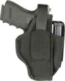 "Blackhawk Ambi Holster, To 2.25"" Sm Frame 5/6-Shot Revolvers, Spur, Mag Pouch, Fits Belts to 1.75"", Black Nylon"