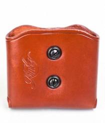 Kimber1911 double magazine carrier tan leather tension screws Kimber logo