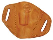 Bulldog Belt Slide Small J Frame Revolver Holster RH Leather Tan