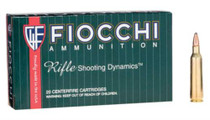Fiocchi .22-250 Remington, 55 Gr, Pointed Soft Point, 20rd/Box
