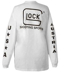 Glock Long Sleeve T-Shirt, White, XL