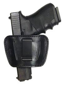 """Peace Keeper Belt Slide Holster M-L Black Leather Fits Belts up to 1.75"""""""