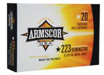 Armscor .223 Rem 62gr, Full Metal Jacket, 20rd Box
