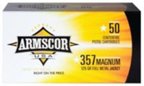 Armscor .357 Mag, 125 Gr, FMJ, 50rd/box