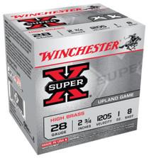 "Winchester Super-X High Brass 28 Ga, 2.75"", 1oz, 8 Shot, 25rd/Box"