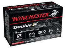 "Winchester Double X High Velocity Turkey Loads Copper Plated Buffered 12 Ga, 2.75"", 1300 FPS, 1.5oz, 6 Shot, 10rd/Box"