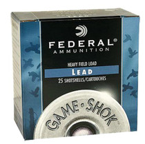 "Federal Game Shok Heavy Field 12 Ga, 2.75"", 1-1/8z, 4 Shot, 25rd/Box"