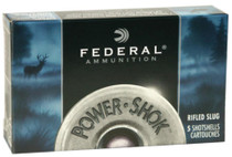 Federal Power-Shok 16 Gauge 2.75 Inch 1600 FPS .80 Ounce Hollow Point Rifled Slugs