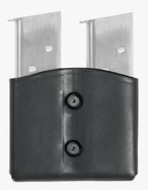 Blackhawk CQC Leather Dual Magazine Pouch Single Stack Black
