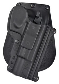 Fobus Paddle Holster, Fits CZ 75/75BD/85/Cadet 22/75D Compact 9mm, EAA Clones, Right Hand, Kydex, Black