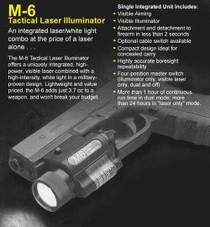 Insight M6 Tac Light Laser Combo Standard Mount, Black