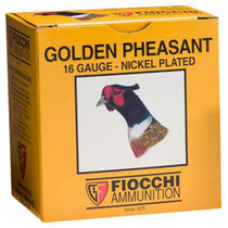 "Fiocchi Golden Pheasant Nickel 16 Ga, 2.75"", 1-1/8oz, 6 Shot, 25rd/Box"