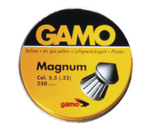 Gamo Magnum Pellets .22 Caliber Spire Point Double Ring 250 Per Tin