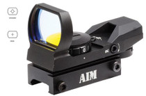 Aim Sports Red Dot 1x 24x34mm Obj 4 MOA Dot Reticle Matte Black