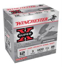 "Winchester Expert Hi-Velocity 12 ga 3"" 1-1/4 oz BB Shot 25Box/10Case"