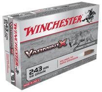 Winchester Varmint X .243 Win 58gr, Polymer Tip, 20rd Box