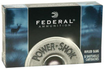"Federal Power-Shok 10 Ga, 3.5"", 1280 FPS, 1.75oz, Hollow Point Rifled Slug, 5rd/Box"