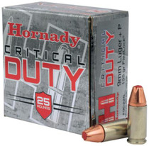 Hornady Critical Duty 9mm +P 135 Grain FlexLock 25rd/Box