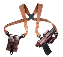 Galco Jackass 248H Adjustable Havana Brown Leather, Suede Harness
