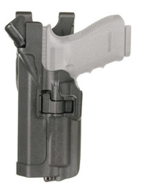 Blackhawk Level 3 Serpa Light Bearing Duty Holster Matte Black Left Hand For Glock 21 and Smith & Wesson M&P .45 Caliber