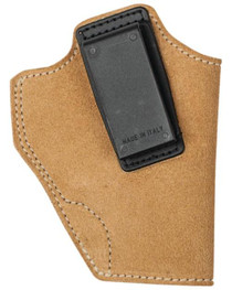 Blackhawk Suede Leather Angle Adjustable ISP Holster for Glock 26/Ruger LC9 and other Sub-Compact 9mm/.40 Caliber Left Hand Brown