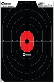 "Battenfeld Technologies Caldwell Flake-Off Targets Center Mass Silhouette 12x18"" 25 Per Package"