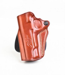 Kimber Speed paddle holster (left hand) for Pro-size (4-inch) 1911 models tan leather Kimber logo by Galco