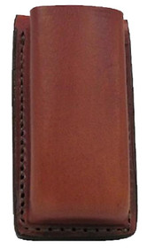 """Bianchi 20A Mag Pouch For Glock 17/22 Fits Belts up to 1.75"""" Tan Leather"""