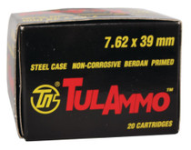 TulAmmo 7.62X39 Ammo 124gr, Hollow Point, 1000rd/Case DELIVERED FREE FREIGHT