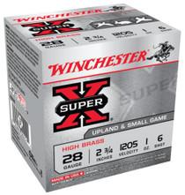 "Winchester Super-X High Brass 28 Ga, 2.75"", 1oz, 6 Shot, 25rd/Box"