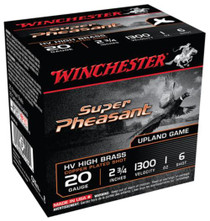 "Winchester Super Pheasant 20 Ga, 2.75"", 1oz, 6 Shot, 25rd/Box"