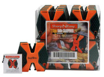 Accusharp SharpNEasy 2 Step Sharpener Ceramic Stone Fine/Coarse, Orange