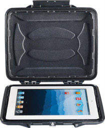 Pelican HardBack Case w/Liner for Various iPad Models ABS Polymer Black