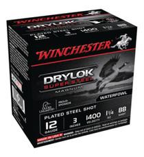 """Winchester Super-X Drylok Steel NT MagLoads 12ga 3""""1-1/4oz BBShot 25Box/10Case"""