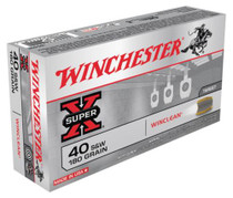 Winchester WinClean 40 S&W Brass Enclosed Base 180gr, 50Box/10Case