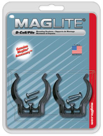 Maglite D-Cell Flashlight Mount Black