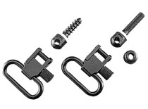 "Uncle Mike's 1.25"" Black Quick Detach Sling Swivels 115 RGS"