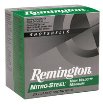 "Remington Nitro Steel Shotshells 12 Ga, 2.75"", 1.3oz, 4 Shot, 25rd/Box (10 Boxes in a case)"