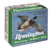 Remington Sportsman Hi-Speed Loads 12 Ga 3 1.3oz 3 Shot 25rd/Box