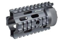 "Leapers, Inc. - UTG Quad Rail System, 4"" Free Floating, for AR-15 Pistol, Slim Profile, Black"