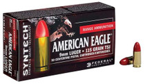 Federal American Eagle 9mm 115gr, Total Syntech Jacket, 50rd/Box