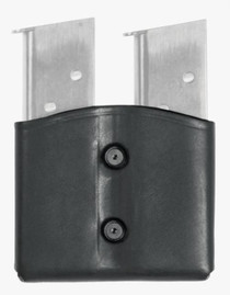 Blackhawk CQC Leather Dual Magazine Pouch Double Stack Black