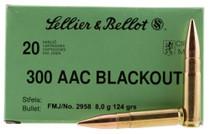 Sellier & Bellot 300 Blackout 124gr, FMJ, 20rd/Box